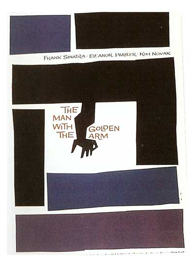 Saul Bass The man whit the goloden arm
